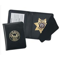 LEATHER DUTY BADGE CASE W/ID HOLDER, STAR CUTOUT 87200-055