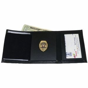 STRONG LEATHER TRIFOLD BADGE WALLET