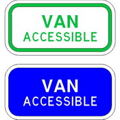 HANDICAP VAN ACCESSIBLE SIGNS