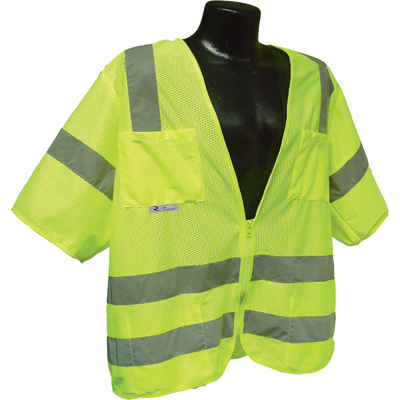 CAROLINA SAFETY SAFETY VEST CLASS III - LIME